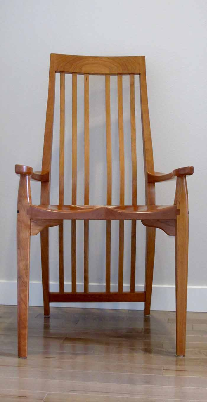 Cherry dining arm chair