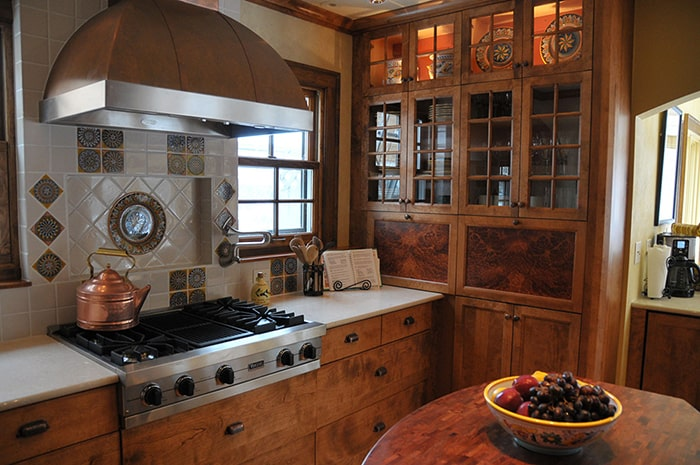 Cherry wood kitchen remodel