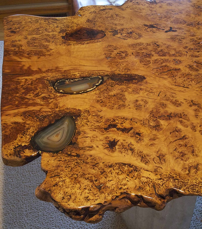 English oak table detail