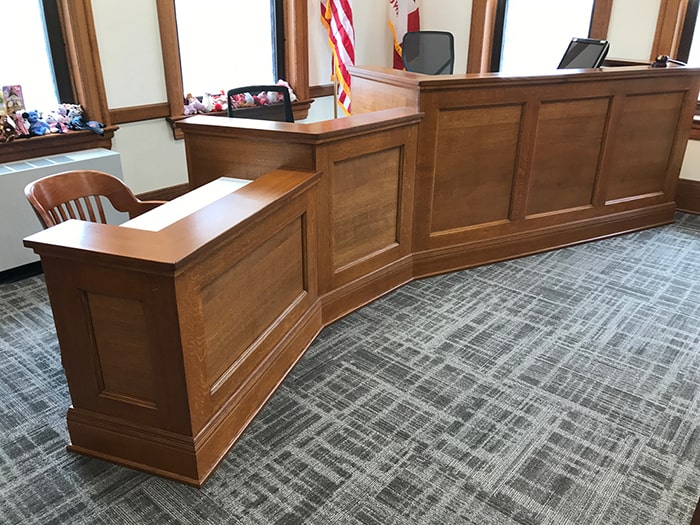 Johnson County courtroom