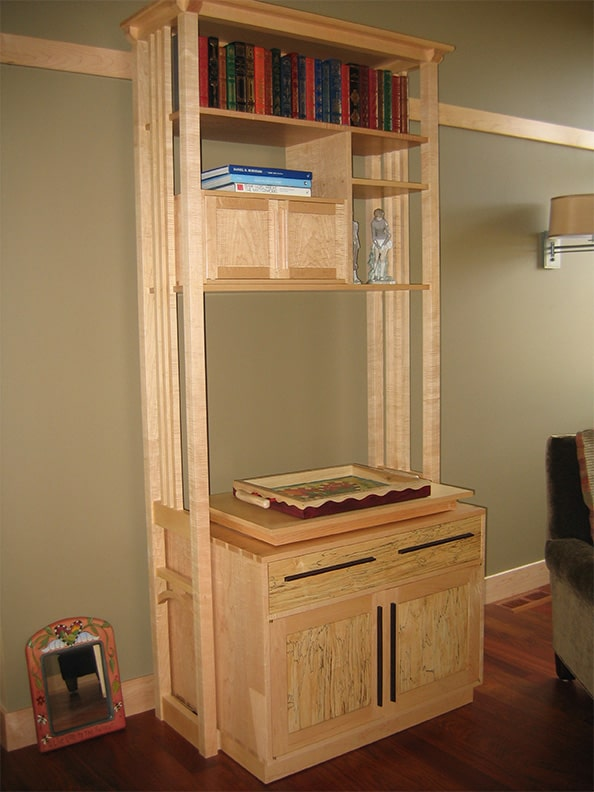 Companion tiger striped maple display case